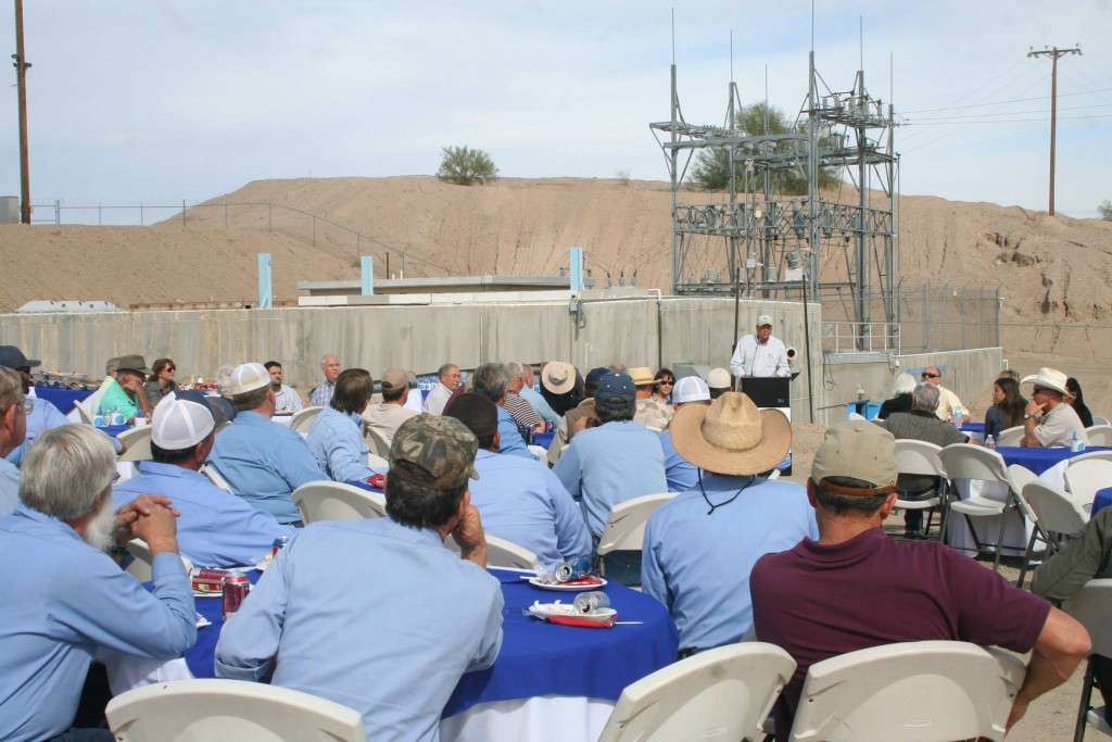 In attendance were employees of the Association, Bard Water District, Wellton Mohawk Irrigation and Drainage District, Yuma Mesa Irrigation and Drainage District, Yuma Irrigation District, U.S. Bureau of Reclamation, Western Area Power Administration, Arizona Public Service, and many more.