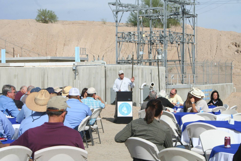 YCWUA Manager Tom Davis opened the event with remarks of the huge benefit to the Association that the plant provides.