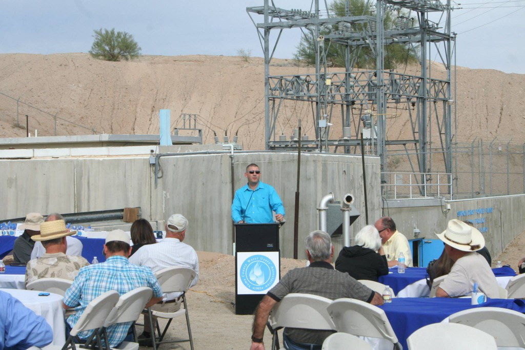 YCWUA Power Manager Charles Cowan explained the recent history of the plants rehabilitation, steps going forward into the next 25 years, and the plant becoming listed as a California Energy Commission certified renewable resource (as well as how that green energy is marketed).